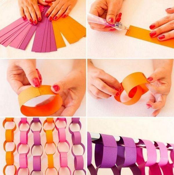 Изработване на венец с пръстени от цветна хартия със собствените си ръце