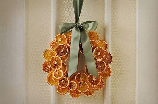 Венец от портокалови филийки