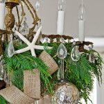 Снимка 4: Декорация на полилей с клони от ела