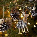 Снимка 5: Играчки за коледно дърво на шишарки