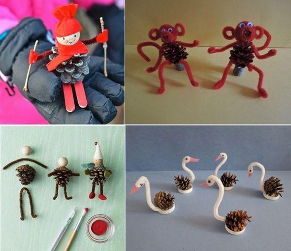 Играчки на конуси и шенилна тел