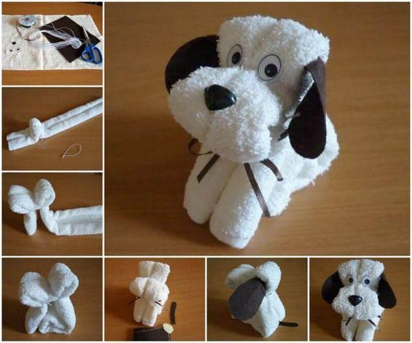 Куче с кърпи