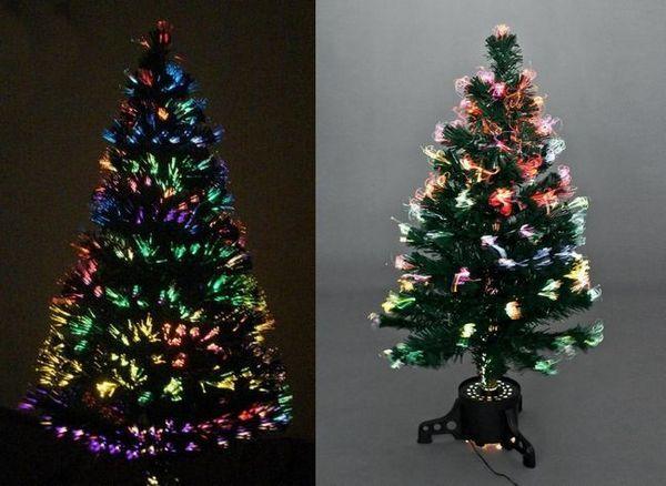 Коледно дърво с оптично влакно
