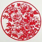 Снимка 78: Цветни шаблони за цветя Jianzhi