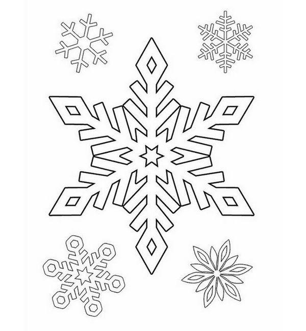 Шаблони от снежинки