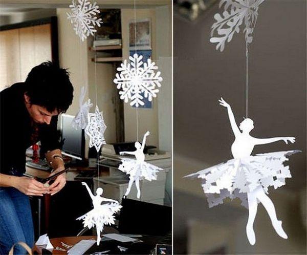 На открито на снежинки и балерини във въздуха