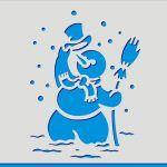Снимка 55: Снежен човек с бял връх