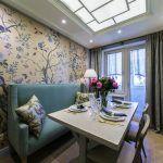 Снимка 57: Красива цветна тапет в кухнята