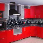 Снимка 59: Престилка в кухнята под формата на фото тапети под градския пейзаж