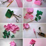 Фотосесия: хартия роза от собствените си ръце