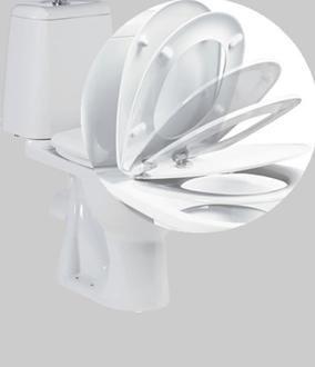 Седалка, оборудвана със система за гладко затваряне на капака