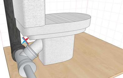 Купа и маншета за свързване на устройството към канализационната система