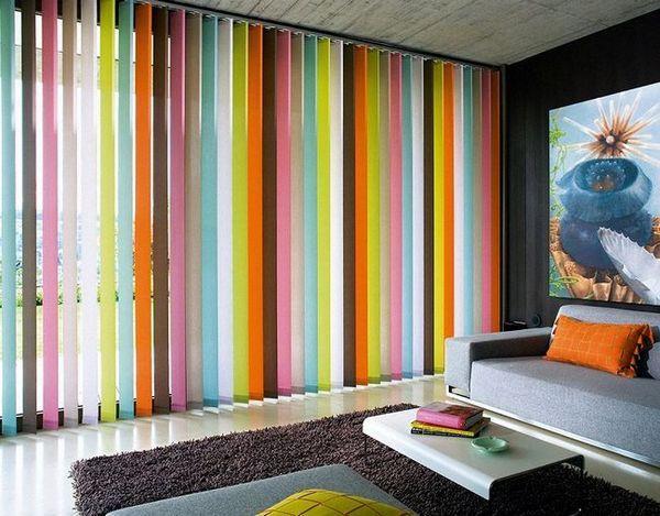 Многоцветни вертикални щори