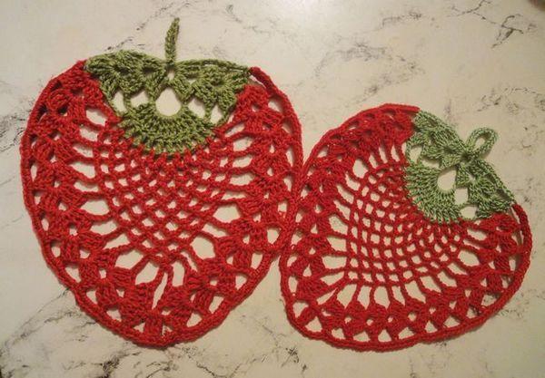 Салфетки схема за плетене на една кука с описание красиво и с вкус