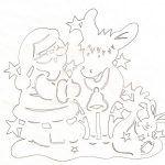 Снимка 26: Модел на Дядо Коледа с елен