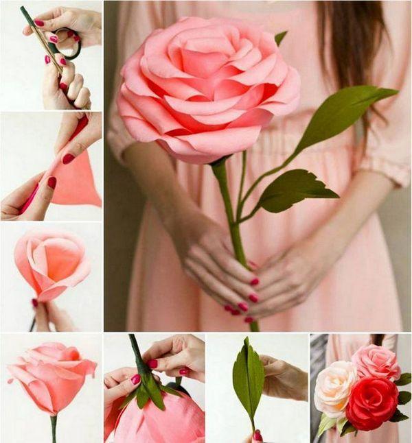 Голямо цвете от хартия