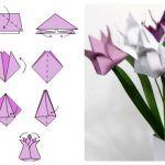 Снимка 23: Лалета в оригами техника