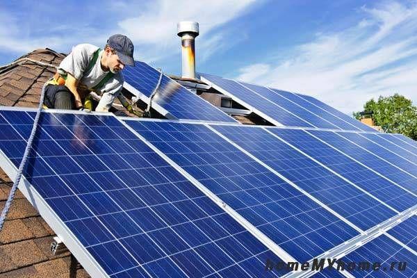 Монтиране на слънчеви панели на покрива