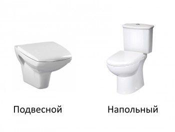 Видове тоалетна чиния по начин на закрепване