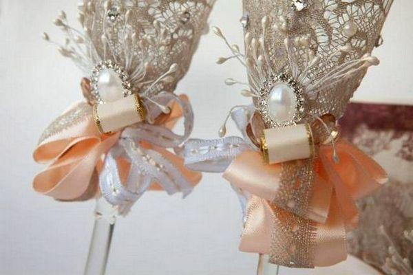 сватбени очила декор