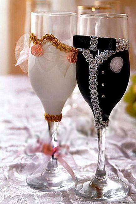 Сватбени очила със собствени ръце