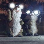 Снимка 13: Слънчеви светлини под формата на мишки
