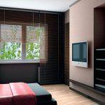 Снимка 20: Телевизор на стената на гипсокартон в спалнята
