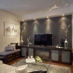 Снимка 33: Вътрешността на стаята Телевизор на стената