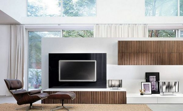 Пример за местоположението на телевизора на стената