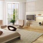 Снимка 82: Телевизор на стената в хола