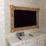Снимка 89: Телевизионна рамка на стената