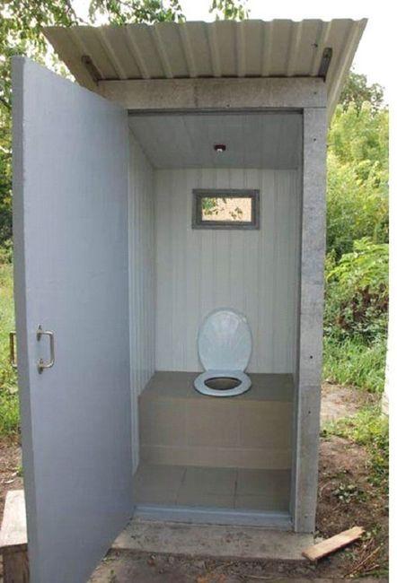 тоалетна в дача със собствените си ръце