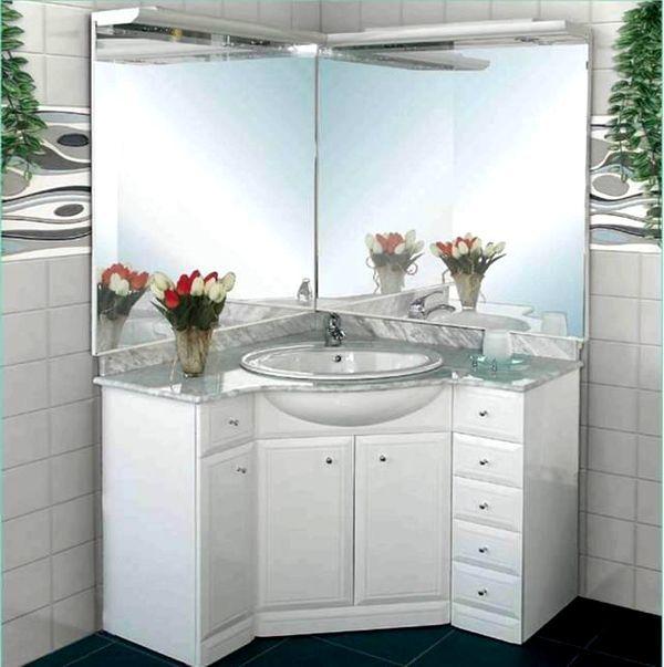 облицовка под мивката с огледало