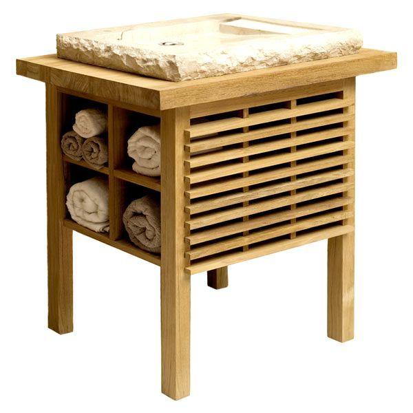 дървена дъска под мивката