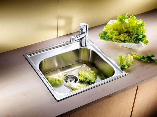 Ъглова мивка в кухнята