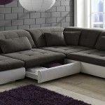 Снимка 29: Сив цвят на дивана е на мода