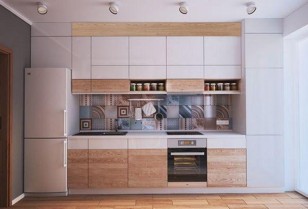Дизайн кухня-хол 12 квадратни. m