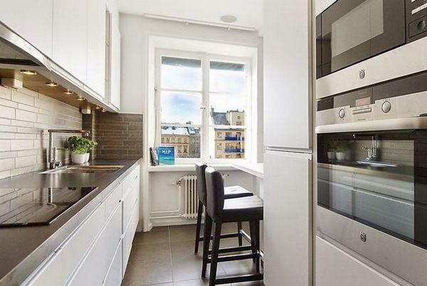 Идеи за дизайн кухня 12 квадратни. m