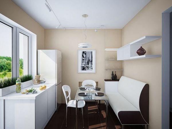 Кухненски дизайн 12 кв. М. м с диван