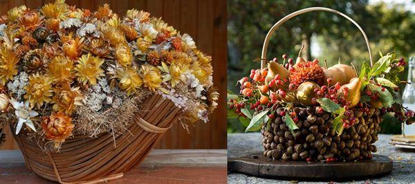 Декорация за интериора в есенния стил