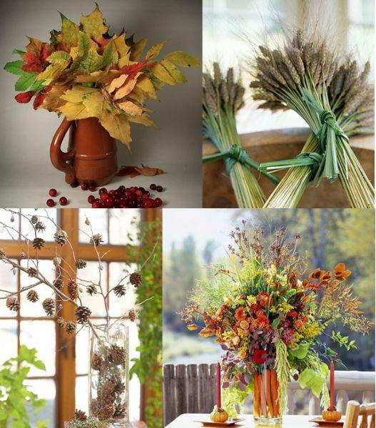 Декоративни букети от есенни листа