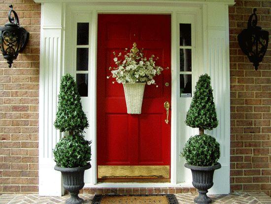 Украсяване на входната врата за най-добрите идеи за вашия дом