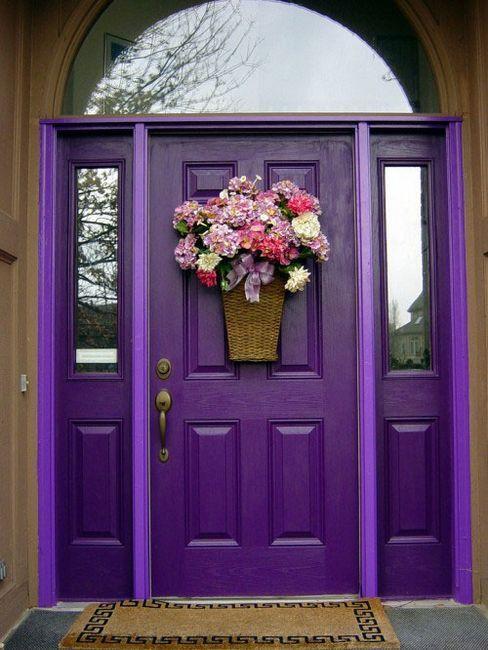 Как да украсят предната врата през пролетта