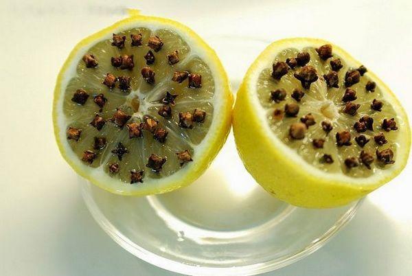 Лимон и карамфил от миди
