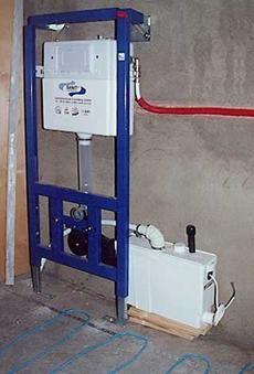 Оборудване за монтаж на тоалетна чиния на всяка стена