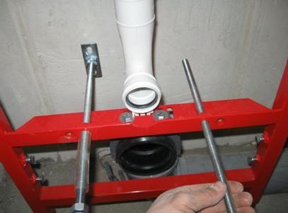 Монтаж на крепежни елементи за тоалетната