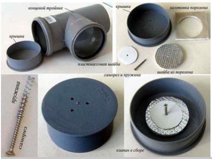 Ние правим клапата за вентилация на канализационната система от импровизирани средства