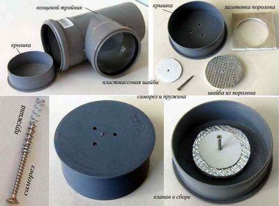 Най-простият клапан на канализационната вентилация в частна къща