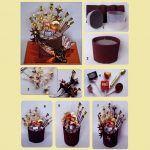 Снимка 32: Шоколадов букет от шоколадови бонбони