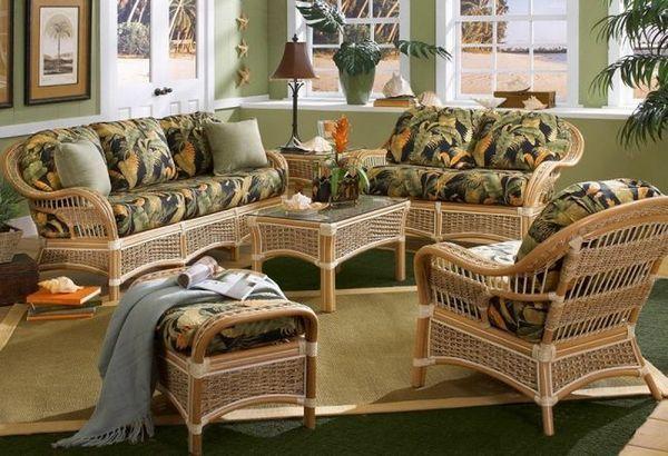 Всички нюанси на мебели от естествен ратан